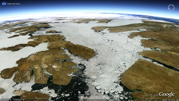 NASA view sea ice above Earth